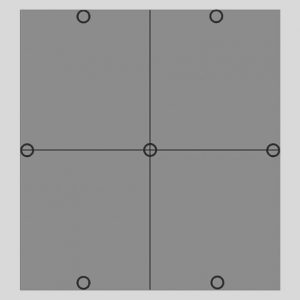 Disposition des plots pour un enfournement avec quatre plaques par étage